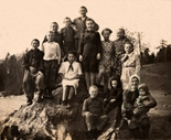 5th grade pupils with their teacher Svetlana Ivanovna Zuikova, 1951